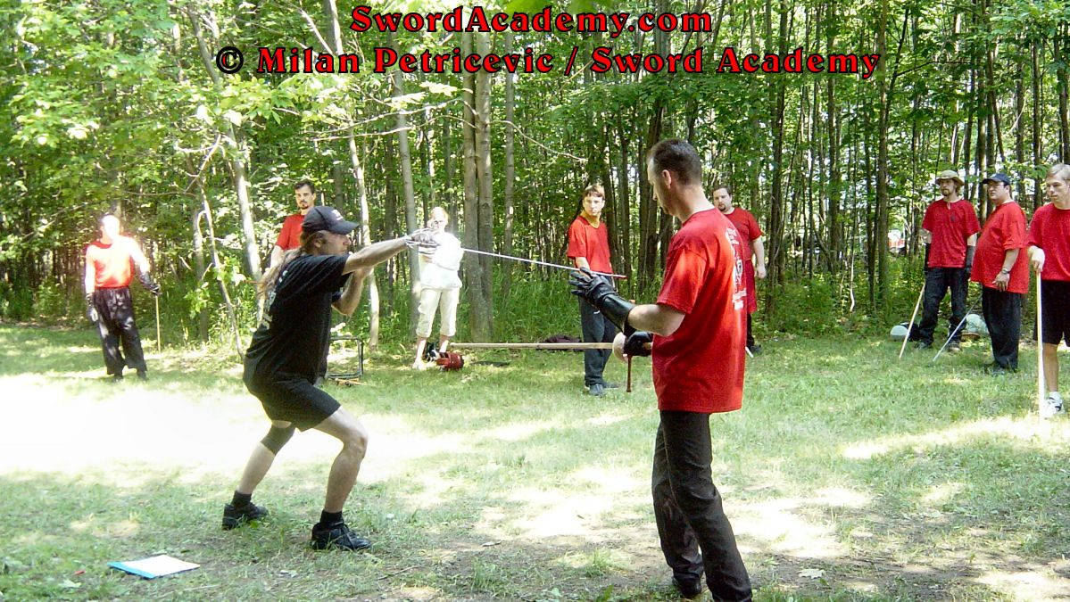 Milan instructing in rapier skills at international HEMA / WMA / Martial Arts conference. Instruction is inspired by historical sources from Italian renaissance period, part of Sword Academy HEMA / WMA / Martial Arts curriculum.